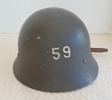 WW 2 Swedish Army Helmet uniform # 59 or vintage motorcycle helmet