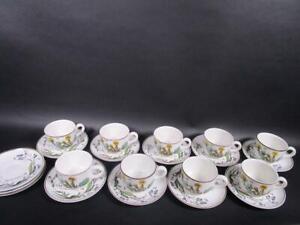 Villeroy & Boch Botanica 9 x Tee-/Kaffeetasse + 12 x Untertasse   1M4324