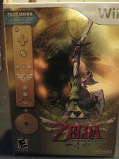 Nintendo Wii The Legend of Zelda Skyward Sword Gold Remote Bundle NEW SEALED