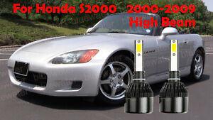 LED For Honda S2000 2000-2009 Headlight Kit H1 6000K White CREE Bulbs HIGH Beam