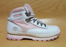 Timberland White Leather Ankle Boots Womens Shoes Size 8.5 M