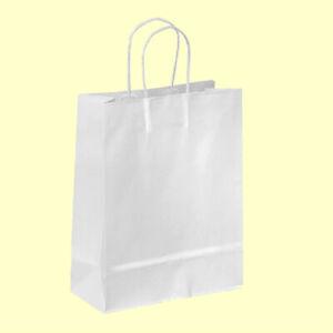 100 Wedding Bags bag BIANCHE cm18 Per Bomboniere Matrimonio Fai Da Te + omaggi