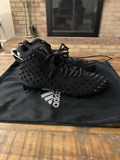 New adidas adizero 5 star 7.0 football cleats black with spikes Size 9 RARE!!!