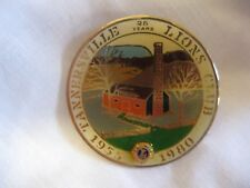 Lions Club Pins 25 years Tannersville 1955-1980 Farm house Woods