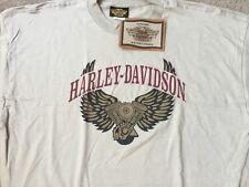 Harley Davidson Winged Engine beige Shirt NWT  Men's small