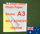 230 sheets A3 105GSM Inkjet and Laser Matte Label Paper Sticker Adhesive