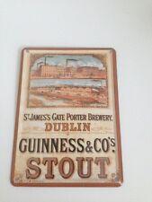 Guinness Bier - FABRIK DUBLIN -  Mini Blechschild Blechkarte Irland Sign 6