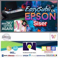 """EPSON Siser EasySubli Sublimation Heat Transfer Vinyl 8.4"""" x 11"""" -30 Sh Pack HTV"""