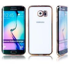Premium Custodia protettiva TPU Oro per Samsung Galaxy S6 Bordo Plus G925F