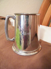 Collectible Vtg Sheffield England Glass Bottom Pewter Tankard