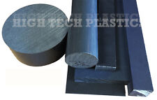"8"" by 12"" Inch Long Gray Color PVC Rod Plastic Polyvinyl Chloride Bar, Rail"