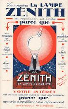 Buvard vintage lampe Zénith