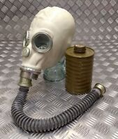 Genuine Russian / CCCP Red Star Soldiers Rubber Gas Mask With Hose and Filter