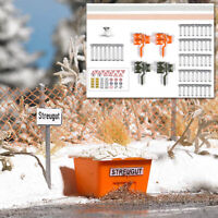Busch 1167 NEW OO (1:76) / HO (1:87) 'Winter on the Road' accessory set