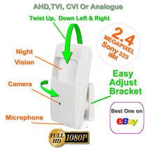 CCTV SPY PIR HD CAMERA COVERT HIDDEN 1080P NIGHT VISION AUDIO TVI AHD CVI UK