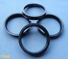 (1046) 4 Stück  Zentrierringe  64,0 / 56,6 mm schwarz für Alufelgen