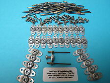 #6-32 Anchor Nut Plate Kit 30 + 30 S.S. Screws + 60 Rivets Aircraft Race Sprint