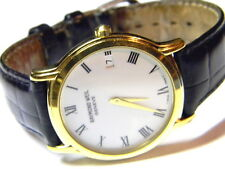 mens Raymond Weil Geneve date roman numeral white face dress watch model # 5569
