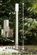 Außenleuchte Edelstahl Außenlampe mit Steckdose Stehlampe Stehleuchte Standlampe