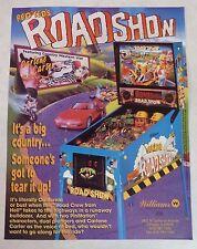 "1994 Williams ""Red & Ted's Roadshow"" Pinball Machine Flyer/Brochure Original"
