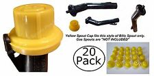 20x BLITZ Replacement YELLOW SPOUT CAPS Top Hat Style fits #900302 900092 900094