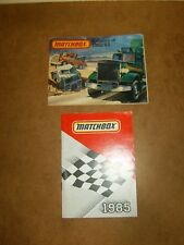 2 anciens catalogues vintage - miniatures MATCHBOX toy vehicles - 1982/83 & 1985