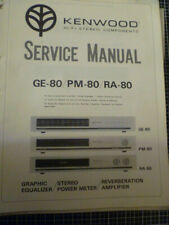 Kenwood  GE-80 / PM-80 / RA-80  Stereo Music System  Service Manual
