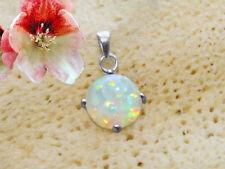 Anhänger mit Opal Triplette rund 925 Sterling Silber für Kette Schmuck    BC34a