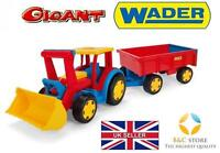 NEW GIANT TRACTOR WITH TRAILER AND SHOVELTROLLEY KIDS Wader 66300 SAND TOP