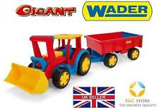~ NEW GIANT TRACTOR WITH TRAILER AND SHOVELTROLLEY KIDS Wader 66300 SAND TOP ~