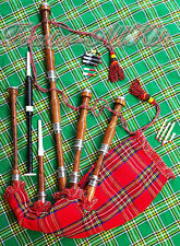 Great Scottish Highland Bagpipe with Free Practice Chanter & Hard Case.