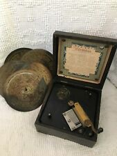 Antique Symphonion Music Box With 42 Discs