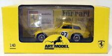 Voitures de courses miniatures jaune Ferrari 1:43
