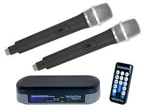 VocoPro TabletOke Digital Karaoke Mixer 2 Wireless Mics & Bluetooth Receiver