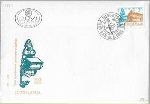 ORIGINAL FDC 1983 YUGOSLAVIA First Telephone Communication Commemorative Stamp