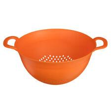 Colander Dual Handles Orange Plastic Kitchen Strainer Pasta Vegetables Drainer