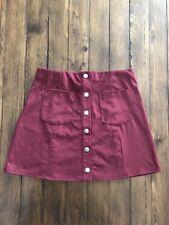 """Forever 21 Burgundy Skirt ✨Size Small✨13.5"""" Waist ✨14"""" Length EUC!"""
