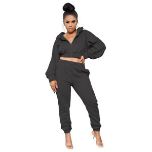 Fashion New Women's Solid Color Long Sleeves Zipper Patchwork Jumpsuit Outfits