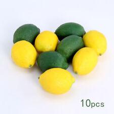10Pcs Limes Lemons Fruit Decorative Plastic Artificial Food Fake Home Decor UK