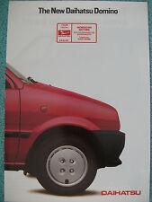 Daihatsu Domino brochure 1985 - 846cc 5 door model