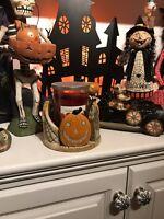 YANKEE CANDLE 2018 Boney Bunch Grave Digger Jar Candle Holder Halloween Pumpkins