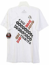 New CAGE FIGHTER MMA T-SHIRT for Men White L