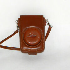 ORIGINALE LEICA lbc-01 D-LUX Leica Fotocamera Borsa Camera Bag Pelle Leather Marrone