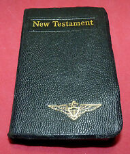 WWII US Navy New Testament Bible Military USN WW2 US Pilot Captain Wings Rare