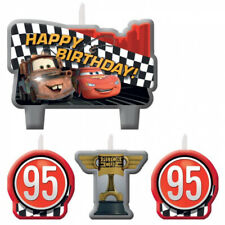 CARS Birthday Cake Candle Set 4 pieces Kids Party Lightning McQueen Disney