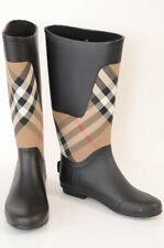 Burberry Clemence brown 11 41 house check print logo rain boot shoe NEW $325