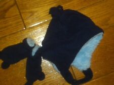 NWT INFANT TRAPPER HAT AND MITTENS WARM FLEECE WITH SOFT LINING SIZE 6-12 MONTHS