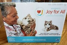 Joy For All - Silver Tabby Kitten - Interactive Companion Pets - Realistic & .