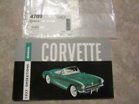 Corvette Owners Manual 1957 new reprint