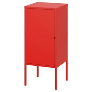 "Brand New IKEA LIXHULT Stackable Red Metal Cabinet 13 3/4x23 5/8 "" 503.286.70"